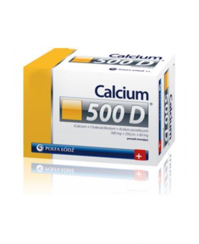 CALCIUM 500 D - 60 sasz. - Apteka internetowa Melissa