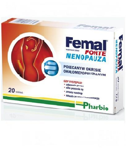 FEMAL Forte Menopauza - 20 tabl. - Apteka internetowa Melissa