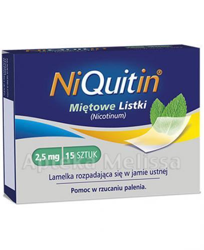 NIQUITIN Miętowe listki 2,5 mg - 15 szt. - Apteka internetowa Melissa