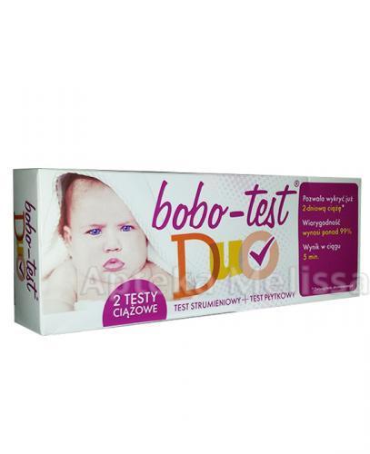 BOBO-TEST DUO Test ciążowy strumieniowy + Test ciążowy płytkowy - 1 szt. - Apteka internetowa Melissa