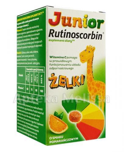 RUTINOSCORBIN JUNIOR Żelki o smaku pomarańczowym - 100 g Data ważności: 2016.07.30
