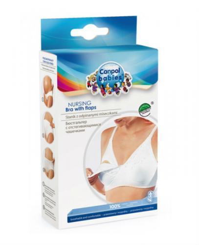 CANPOL Biustonosz dla matek karmiących bawełniany biały 90C 26/762 - 1 szt. - Apteka internetowa Melissa