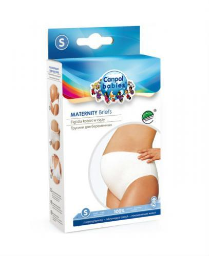 CANPOL Figi dla kobiet w ciąży zakrywające brzuch bawełniane białe M 26/208 - 1 szt. - Apteka internetowa Melissa