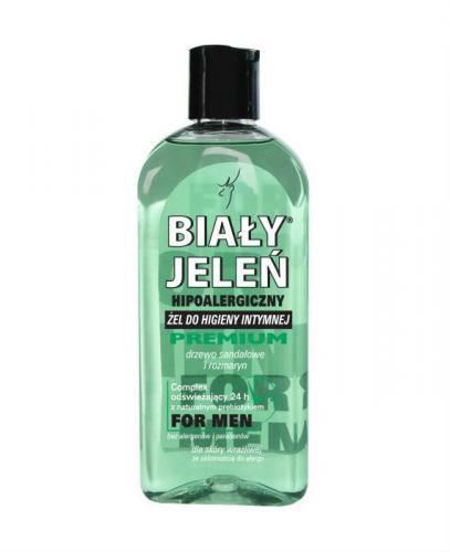 BIAŁY JELEŃ Żel do higieny intymnej PREMIUM FOR MEN z ekstraktem z drzewa sandałowego i rozmarynu - 300 ml - Apteka internetowa Melissa
