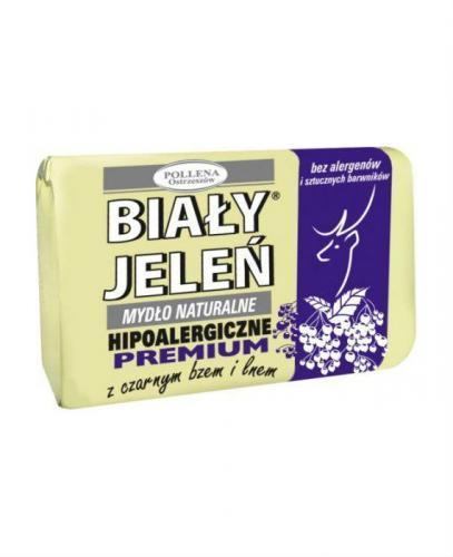 BIAŁY JELEŃ Hipoalergiczne mydło naturalne PREMIUM z czarnym bzem - 100g - Apteka internetowa Melissa