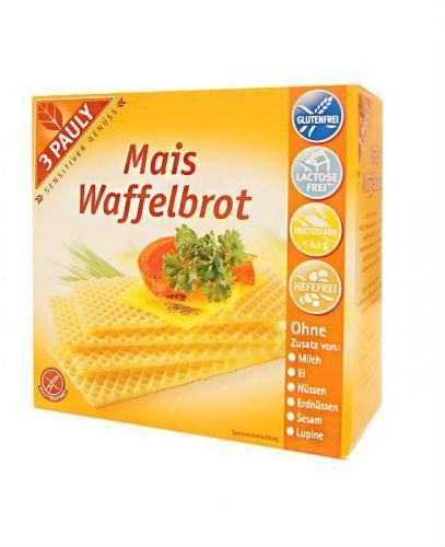 3 PAULY Wafle kukurydziane bezglutenowe - 100 g   - Apteka internetowa Melissa