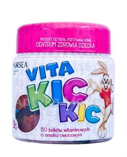 VITA KIC KIC Żelki witaminowe o smaku owocowym - 50 szt. - Apteka internetowa Melissa