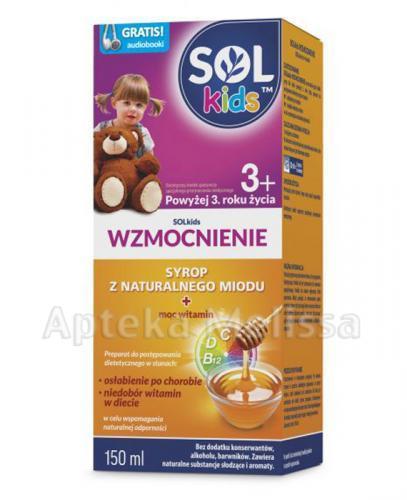 SOLKIDS WZMOCNIENIE Syrop z naturalnego miodu powyżej 3 roku życia - 150 ml - Apteka internetowa Melissa