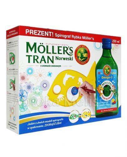 MOLLERS Tran norweski o aromacie owocowym - 250 ml + Spirograf rybka GRATIS! - Apteka internetowa Melissa
