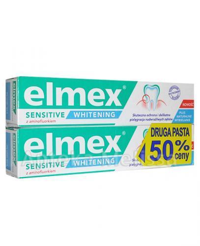 ELMEX SENSITIVE WHITENING Pasta do zębów wybielająca - 2 x 75 ml - Apteka internetowa Melissa