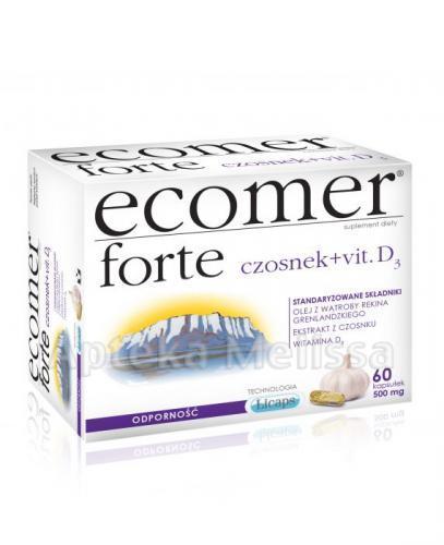 ECOMER FORTE Czosnek + wit. D3 - 60 kaps. - Apteka internetowa Melissa