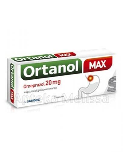 ORTANOL Max Omeprazol 20 mg - 7 kaps. - Apteka internetowa Melissa