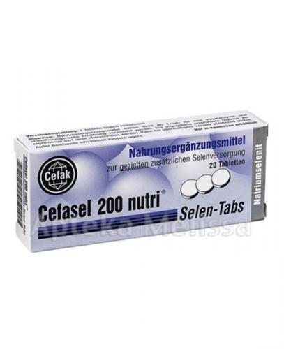 CEFASEL 200 NUTRI - 20 tabl. - Apteka internetowa Melissa