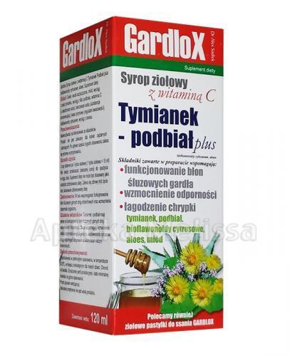 GARDLOX TYMIANEK I PODBIAŁ PLUS Syrop ziołowy z witaminą C - 120 ml - Apteka internetowa Melissa