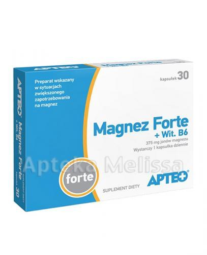 APTEO Magnez Forte + Wit. B6 - 30kaps. - Apteka internetowa Melissa