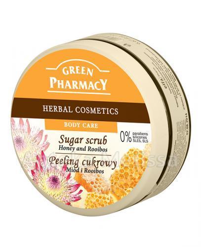 GREEN PHARMACY Peeling cukrowy miód i rooibos - 300 ml - Apteka internetowa Melissa