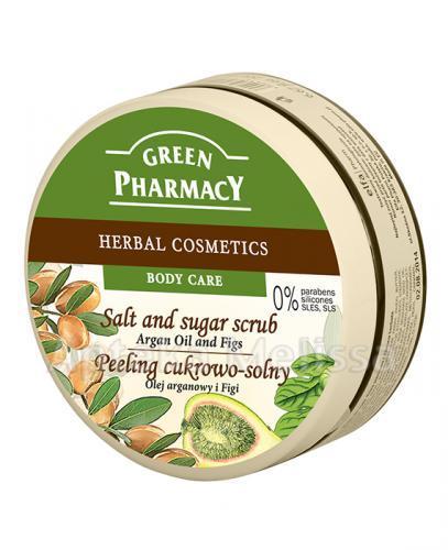 GREEN PHARMACY Peeling cukrowo-solny olej arganowy i figi - 300 ml - Apteka internetowa Melissa