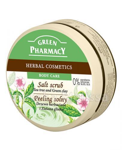 GREEN PHARMACY Peeling solny drzewo herbaciane i zielona glinka - 300 ml - Apteka internetowa Melissa
