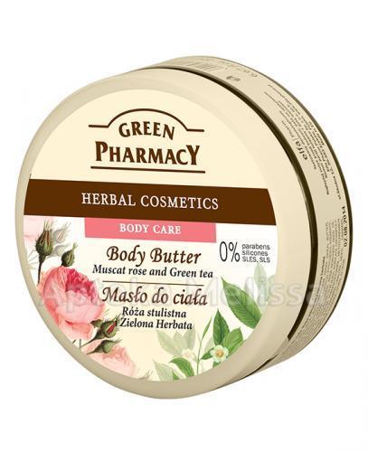 GREEN PHARMACY Masło do ciała róża piżmowa i zielona herbata - 200 ml - Apteka internetowa Melissa