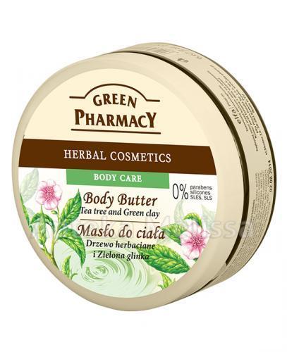 GREEN PHARMACY Masło do ciała drzewo herbaciane i zielona glinka - 200 ml - Apteka internetowa Melissa