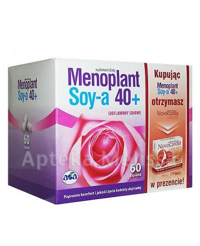 MENOPLANT SOYA 40+ - 60 kaps. + NOVOCARDIA LADY - 10 kaps.  - Apteka internetowa Melissa