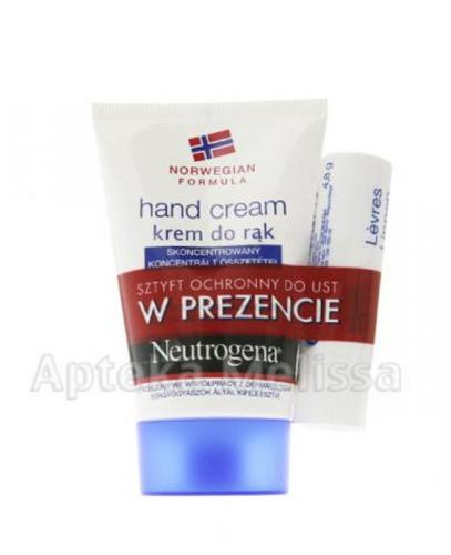 NEUTROGENA FORMUŁA NORWESKA Krem do rąk - 50 ml + Pomadka - 4,8 g - Apteka internetowa Melissa