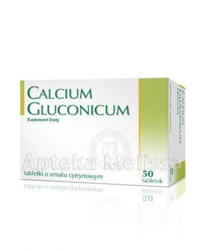 CALCIUM GLUCONICUM O smaku cytrynowym - 50 tabl. - Apteka internetowa Melissa