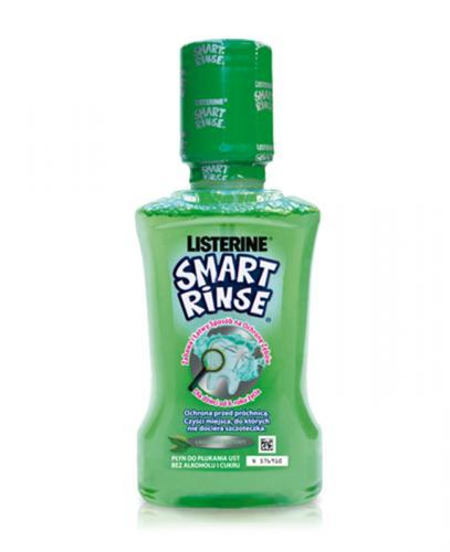 LISTERINE SMART RINSE Płyn do płukania ust łagodna mięta - 250 ml - Apteka internetowa Melissa