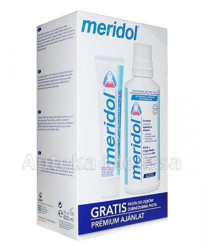 MERIDOL Płyn do płukania jamy ustnej bez alkoholu - 400 ml + Pasta do zębów - 75 ml GRATIS! - Apteka internetowa Melissa