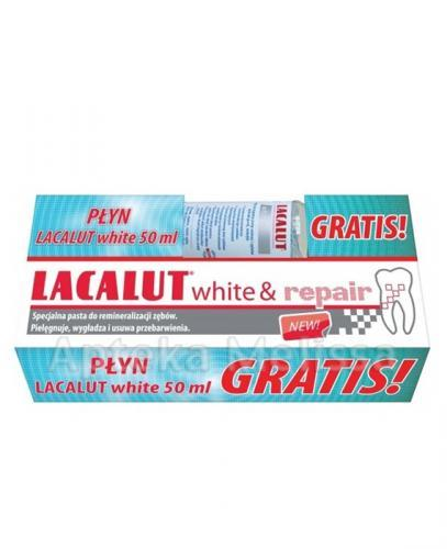 LACALUT WHITE&REPAIR Pasta do zębów - 75 ml + Płyn do płukania jamy ustnej - 50 ml GRATIS! - Apteka internetowa Melissa