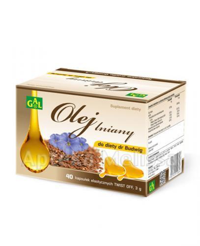 GAL Olej lniany do diety dr Budwig - 40 kaps. - Apteka internetowa Melissa