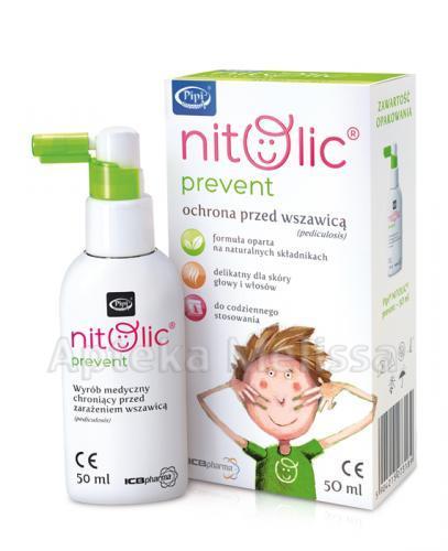 PIPI NITOLIC PREVENT Spray przeciw wszawicy - 50 ml - Apteka internetowa Melissa