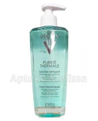 VICHY PURETE THERMALE Odświeżający żel do mycia twarzy - 400 ml (nowa szata)