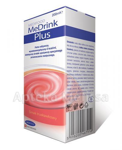 MEDRINK PLUS Smak truskawkowy - 200 ml - Apteka internetowa Melissa