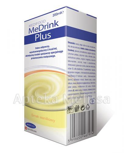 MEDRINK PLUS Smak waniliowy - 200 ml - Apteka internetowa Melissa