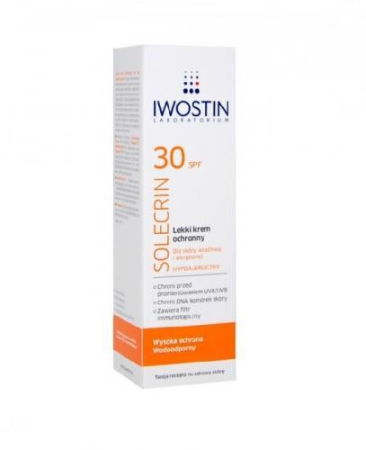 IWOSTIN SOLECRIN Lekki krem ochronny SPF30 - 50 ml - Apteka internetowa Melissa