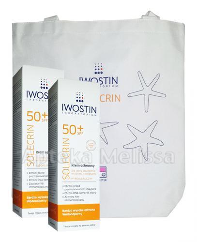 IWOSTIN SOLECRIN Krem ochronny SPF50+ - 2 x 50 ml + Torba GRATIS! - Apteka internetowa Melissa
