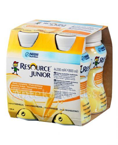 RESOURCE JUNIOR Smak waniliowy - 4 x 200 ml