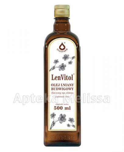 LENVITOL Olej lniany budwigowy nieoczyszczony - 500 ml  - Apteka internetowa Melissa