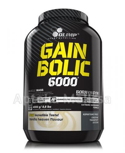 OLIMP GAIN BOLIC 6000 O smaku waniliowym - 4000 g - Apteka internetowa Melissa