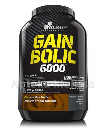 OLIMP GAIN BOLIC 6000 O smaku czekoladowym - 4000 g - Apteka internetowa Melissa