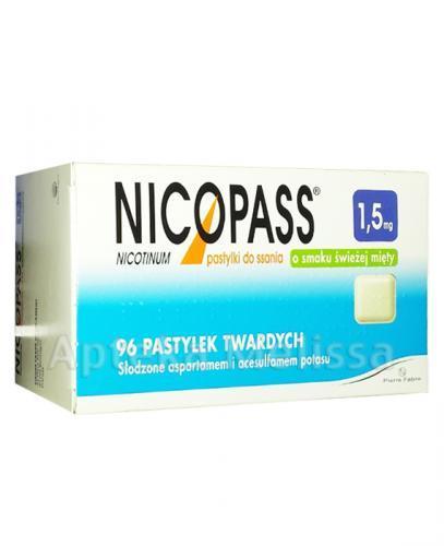 NICOPASS O smaku świeżej mięty 1,5 mg - 96 past. - Apteka internetowa Melissa