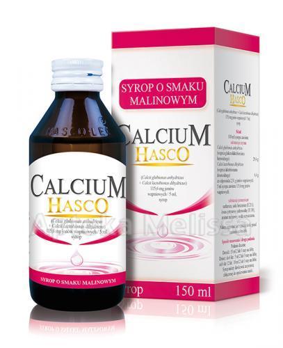 HASCO CALCIUM Syrop o smaku malinowym - 150 ml - Apteka internetowa Melissa