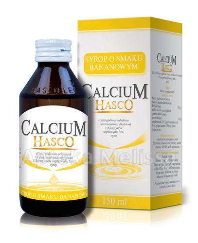 HASCO CALCIUM Syrop o smaku bananowym - 150 ml - Apteka internetowa Melissa