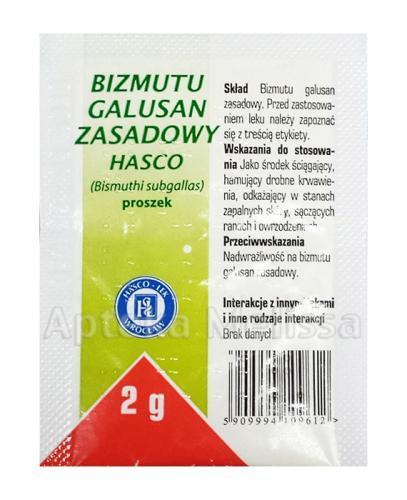 BIZMUTU GALUSAN Proszek - 2 g DERMATOL