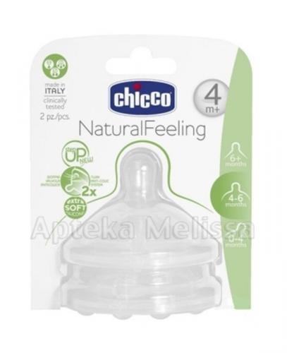 CHICCO Smoczek silikonowy do butelki step up new 4m+ - 1 szt.