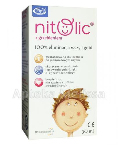 PIPI NITOLIC Spray przeciw wszawicy - 30 ml + Grzebień - 1 szt. - Apteka internetowa Melissa