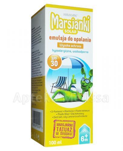 MARSJANKI SOLAR Emulsja do opalania SPF30 - 100 ml - Apteka internetowa Melissa