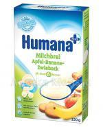 HUMANA Kaszka mleczna jabłkowo-bananowa z sucharkiem - 250 g - Apteka internetowa Melissa