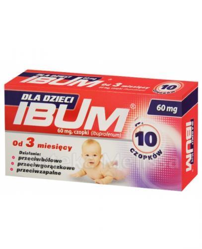 IBUM Czopki dla dzieci 60 mg - 10 szt.